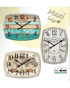 WALL CLOCK 48x66CM VINTAGE6 1140/06