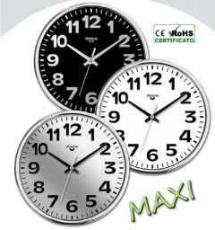 WALL CLOCK ABS D.36CM CHROME 1962/20