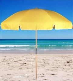 Commercial beach umbrella 2.4m Stripped