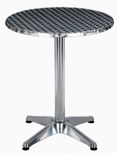 60CM ALUMINIUM BISTRO TABLE