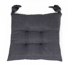 SEAT CUSHION 40X40X3CM  COOL GREY