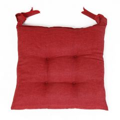 SEAT CUSHION 40X40X3CM  RED