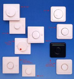 Wall mount dimmer switch