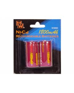 Ni-Cd Rechargable Battery 2 pcs pack C Size