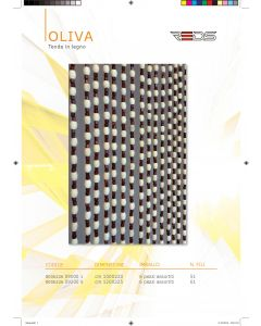 WOODEN CURTAIN OLIVA 120X255CM