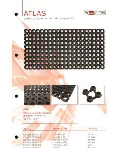 Rubber mat Atlas 50x100cm