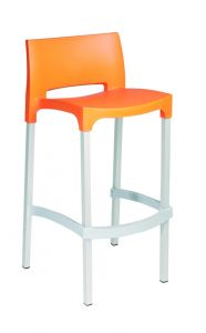 Rick Stool Orange Resol